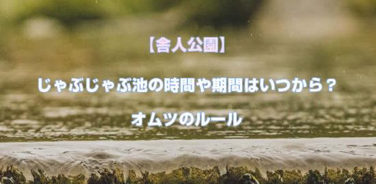 【舎人公園】じゃぶじゃぶ池の時間や期間はいつから?オムツのルール