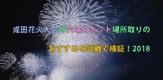 成田花火大会の穴場スポット場所取りのおすすめを距離で検証!2018